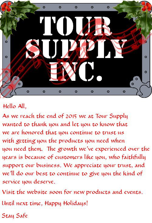 2015 Tour Supply Holiday Cheer